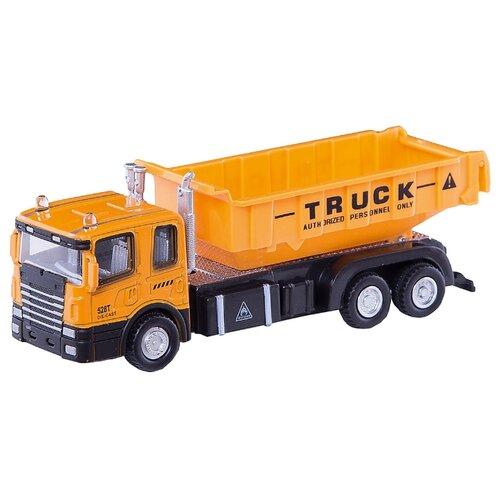 Купить Грузовик Autogrand Construction Truck (34134) 1:48 15 см желтый, Машинки и техника