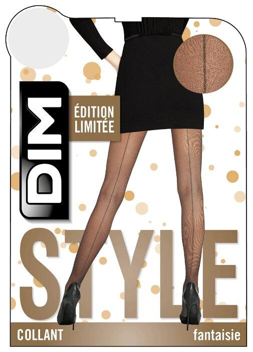Колготки DIM Style Fantaisie Silver lurex seamed 15 den