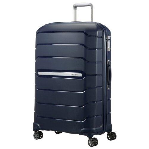 Чемодан Samsonite Flux L 111 л, Темно-синий/Navy Blue чемодан samsonite flux m 95 л темно синий navy blue