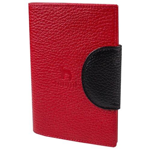 Обложка для паспорта Mumi красный 160-22, натуральная кожа