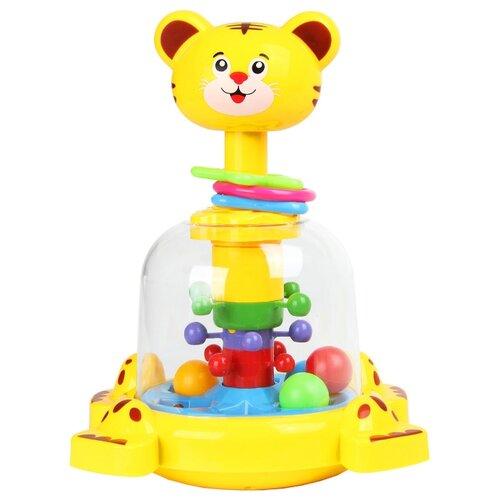 Юла-карусель Junfa toys Тигренок (SL83014) желтый игрушка chuc юла