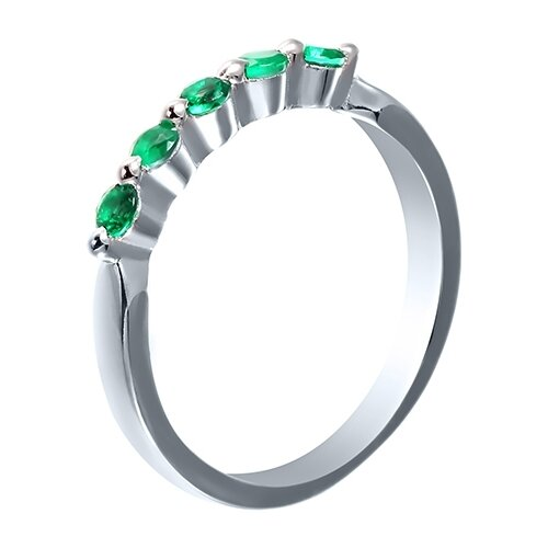 JV Кольцо с фианитами из серебра SY-10862-R-KO-023-WG, размер 17 jv кольцо с фианитами из серебра sy 355491 r 003 wg размер 17