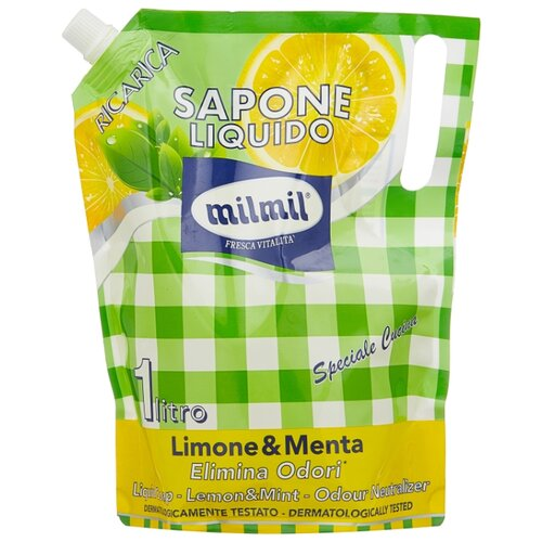 Купить Мыло жидкое Milmil Лимон и мята, 1 л