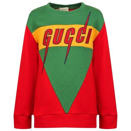 Свитшот GUCCI размер 104, красный/зеленый туника gucci размер 104 красный