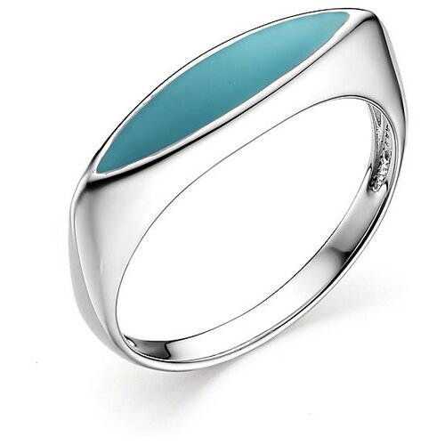 АЛЬКОР Кольцо с эмалью из серебра 01-0817-ЭМ75-00, размер 18.5 алькор кольцо с эмалью из серебра 01 1096 эм75 00 размер 18