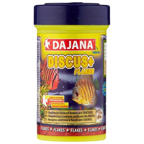 Сухой корм для рыб Dajana Pet Discus Plus Flakes 100 мл 20 г сухой корм для рыб dajana pet malawi flakes 1000 мл 200 г