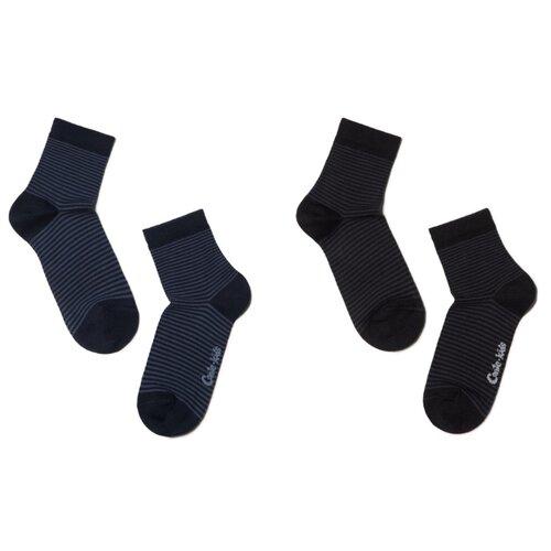 Носки Conte-kids комплект 2 пары размер 22, темно-синий