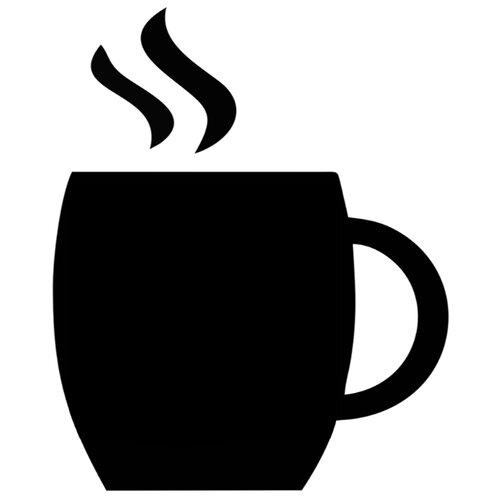 Наклейка Melcom Чашка Кофе 03, меловая наклейка melcom уютный чайник 04 меловая