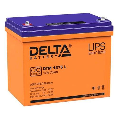 Аккумуляторная батарея DELTA Battery DTM 1275 L 75 А·ч аккумуляторная батарея delta battery dtm 1275 l 75 а·ч