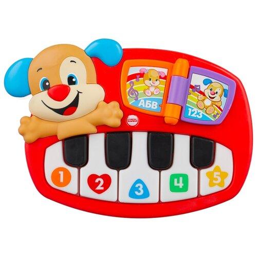 Купить Интерактивная развивающая игрушка Fisher-Price Смейся и учись. Пианино Щенка (DLK15) красный, Развивающие игрушки