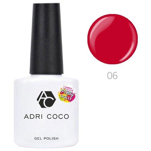 Гель-лак для ногтей ADRICOCO Pretty dolly, 8 мл, 06 неоновый рубиновый