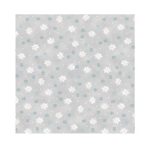 Ткань STOF PEPPY (P - W) для пэчворка 4497 фасовка 50 x 55 см 146±5 г/кв.м Цветы/снежинки 033