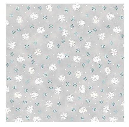 Ткань STOF PEPPY (P - W) для пэчворка 4497 фасовка 50 x 55 см 146±5 г/кв.м Цветы/снежинки 034