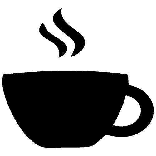 Наклейка Melcom Чашка Кофе 02, меловая наклейка melcom уютный чайник 04 меловая