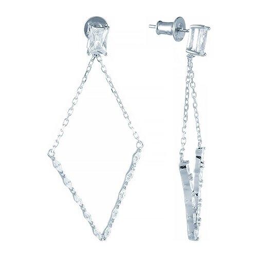 JV Серьги с фианитами из серебра E26870-B3-SR-001-WG jv серьги с фианитами из серебра e26752 w2 sr 001 wg