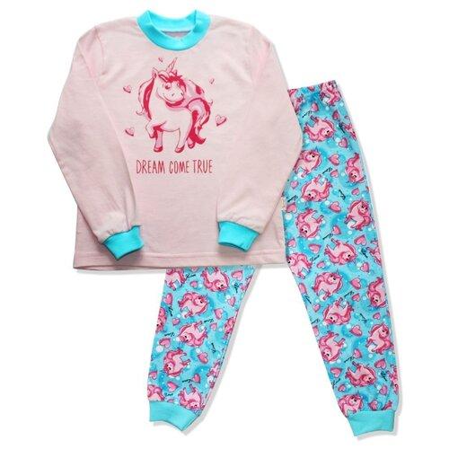 Пижама Веселый Малыш размер 116, розовый/голубой пижама веселый малыш размер 104 розовый