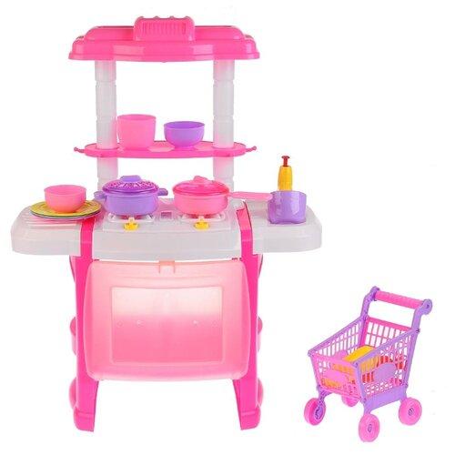 Кухня Jia Huan Long Toys 666-165A-1 с тележкой розовый huan qi 3900