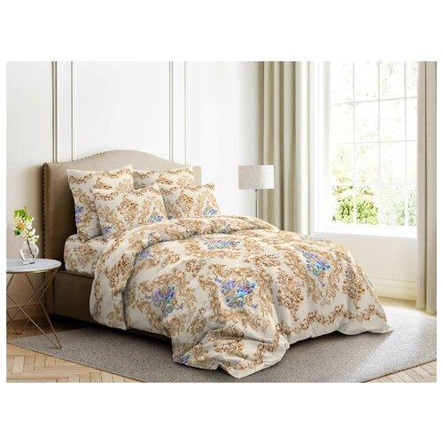 Постельное белье 2-спальное с евро простыней Ночь Нежна Нежная роза 50 х 70 см бязь коричневый фото