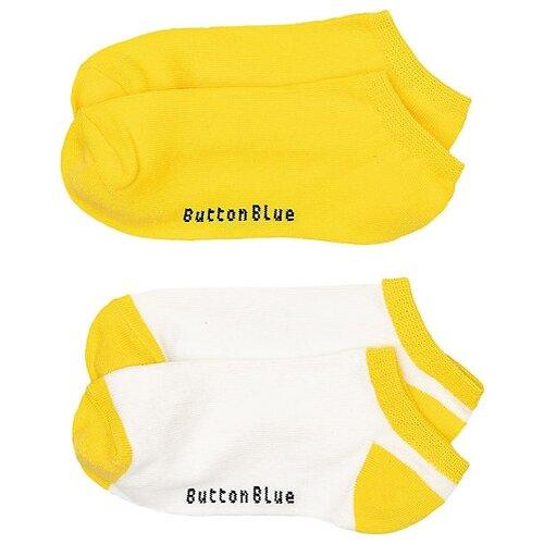 Носки Button Blue комплект 2 пары размер 16-18, желтый/белый