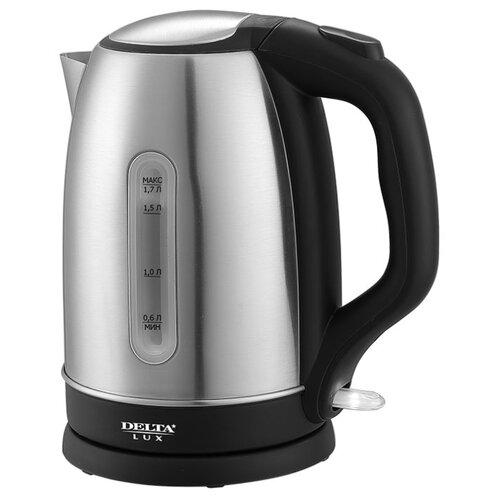 Чайник DELTA LUX DL-1334, черный чайник электрический delta lux dl 1207