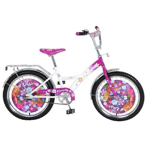 Фото - Детский велосипед Navigator Lady (ВН20073) белый/фиолетовый (требует финальной сборки) городской велосипед stels navigator 300 lady 28 z010 2018 фиолетовый 20 требует финальной сборки