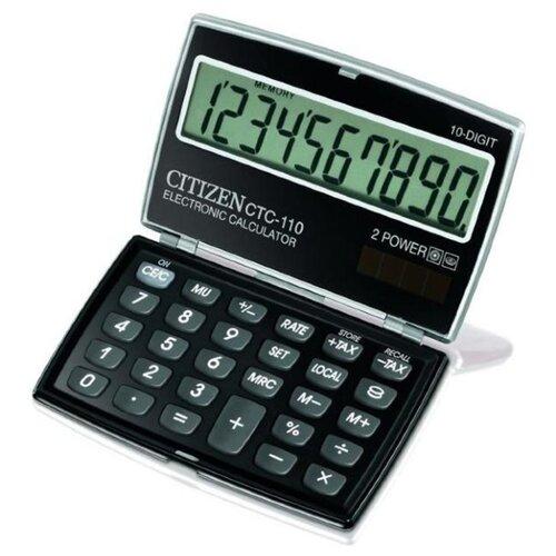 Калькулятор карманный CITIZEN CTC-110 черный