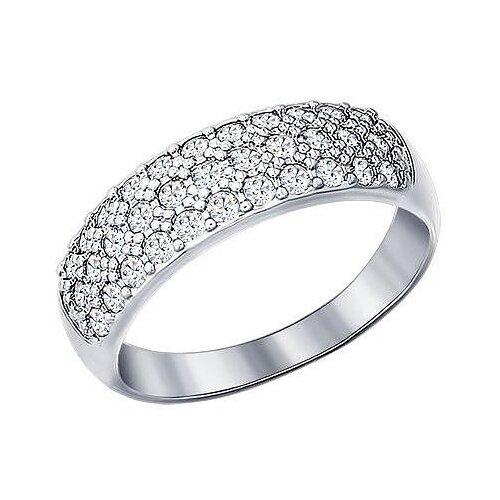 SOKOLOV Кольцо с 33 фианитами из серебра 94010062, размер 18 фото