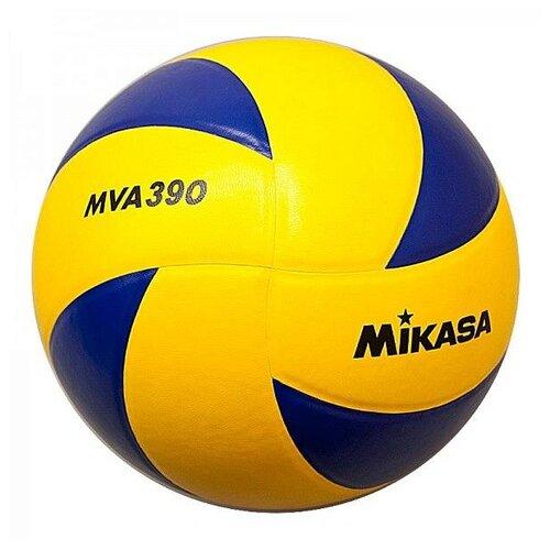 Волейбольный мяч Mikasa MVA390 желто-синий мяч волейбольный mikasa mva300 синий желтый размер 5