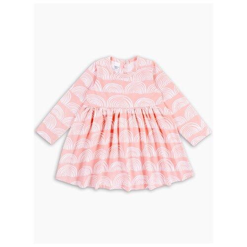 Платье Веселый Малыш размер 122, розовый/белый
