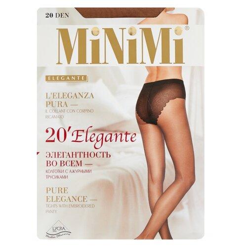 Колготки MiNiMi Elegante 20 den, размер 2-S/M, daino (бежевый) колготки minimi elegante 40 den размер 4 l daino бежевый