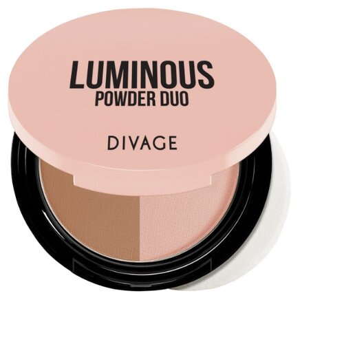 DIVAGE Luminous Пудра компактная Powder Duo 01Пудра<br>