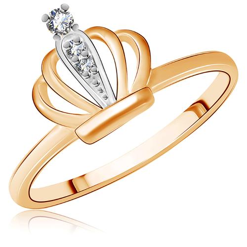 Бронницкий Ювелир Кольцо из красного золота Д0268-016771, размер 14.5 бронницкий ювелир кольцо из красного золота д0268 017060 размер 17