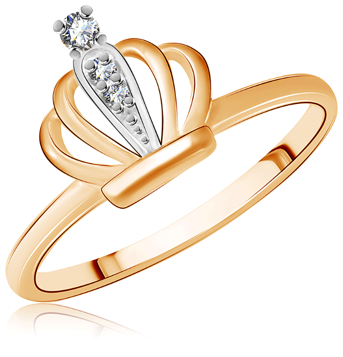 SOKOLOV Помолвочное кольцо из золота со Swarovski Zirconia 81010236, размер 18