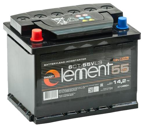 Автомобильный аккумулятор АкТех Smart Element ELE 55-З-R — купить по выгодной цене на Яндекс.Маркете