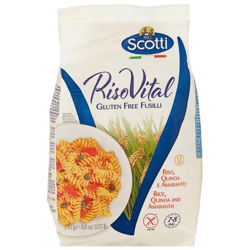 Riso Scotti Макароны RisoVital Fusilli из рисовой муки, с киноа и амарантом без глютена, 250 г