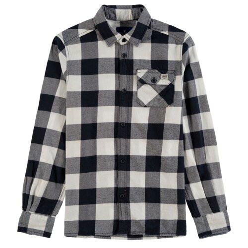 Рубашка Tom Tailor размер 116/122, черный/белый рубашка tom tailor tom tailor to172emgbfb2