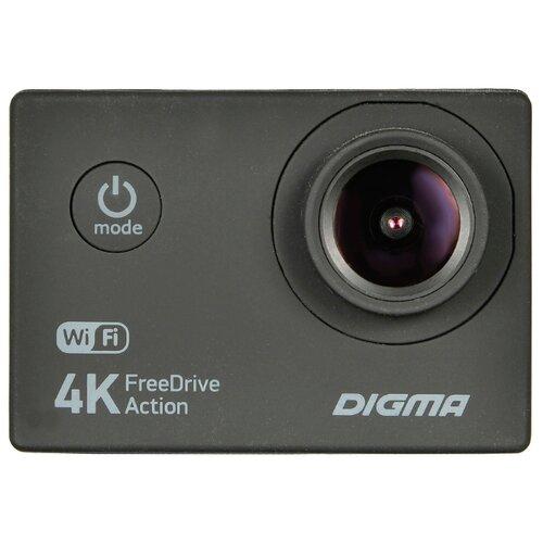 Видеорегистратор DIGMA FreeDrive Action 4K WIFI черный видеорегистратор digma freedrive action 4k wifi [fdac4w]