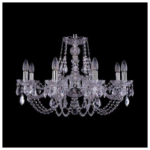 Люстра Bohemia Ivele Crystal 1406 1406/8/240/Ni/Leafs, E14, 320 Вт люстра bohemia ivele crystal 1406 1406 8 160 ni leafs e14 320 вт