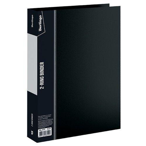 Купить Berlingo Папка на 2-х кольцах Standard A4, пластик, 40 мм черный, Файлы и папки