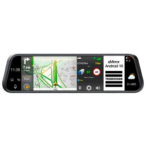 Купить Видеорегистратор TrendVision aMirror 10 Android, 2 камеры, GPS черный