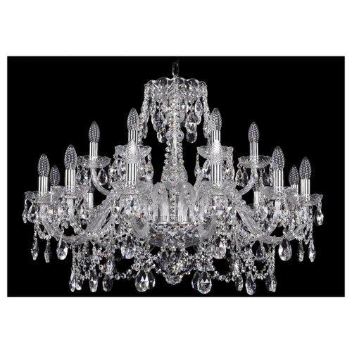 Фото - Люстра Bohemia Ivele Crystal 1411 1411/12+6/300/Ni, E14, 720 Вт люстра bohemia ivele crystal 1411 1411 12 6 300 h 94 g e14 720 вт