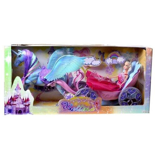Кукла Shantou Gepai Bettina с каретой и лошадью, B1804496 кукла shantou gepai с коляской cs5832ha