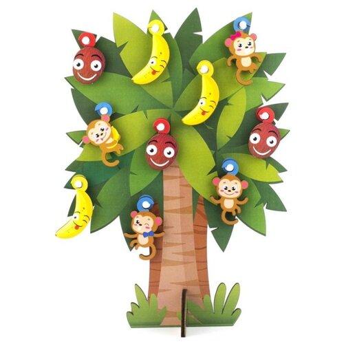 Купить Развивающая игрушка Woodland Пальма 124104 коричневый/зеленый, Развитие мелкой моторики