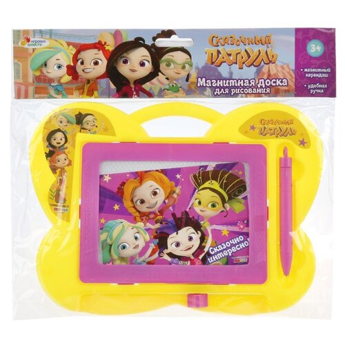 Купить Доска для рисования детская Играем вместе Сказочный патруль 23x19 см ( B1358843-SP) желтый/розовый, Доски и мольберты
