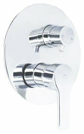 Смеситель для ванны с душем Rubineta Kubo-2F Uno однорычажный встраиваемый хром