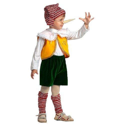 Купить Костюм Батик Буратино (403), желтый/красный/зеленый, размер 140, Карнавальные костюмы