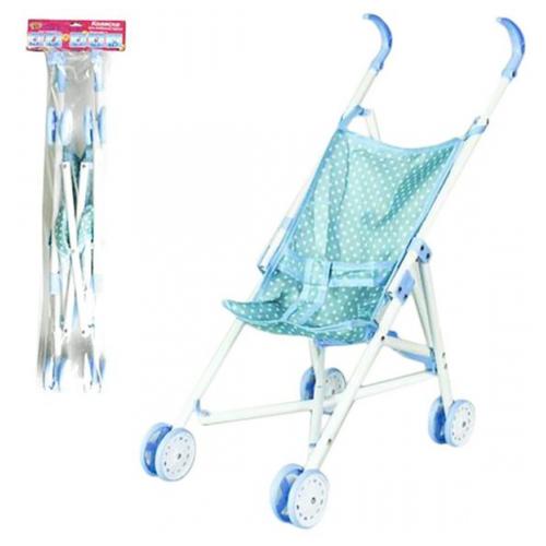 Прогулочная коляска Наша игрушка Жемчуг M7492-1 голубой