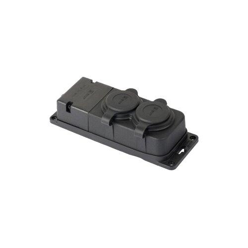 цена на Розетка силовая (CEE) панельная (фланцевая) EKF RPS-018-16-230-44-r