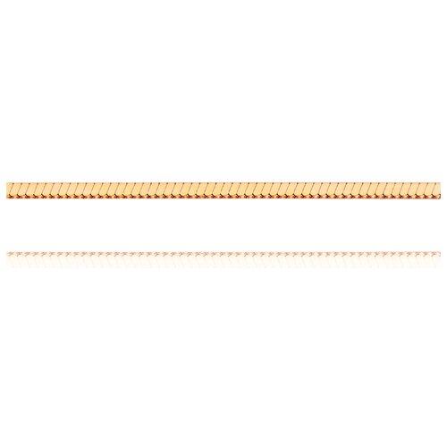 АДАМАС Цепь из золота плетения Панцирь одинарный ЦП130УКВА4-А51, 40 см, 2.58 г