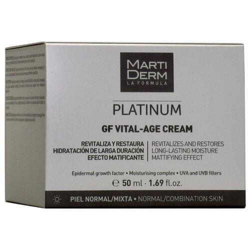 Фото - Martiderm Platinum GF Vital-Age Cream Дневной крем для нормальной/смешанной кожи лица, 50 мл l oreal dermo expertise крем гель для лица для нормальной и смешанной кожи 50 мл